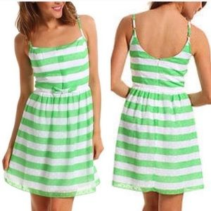 Lilly Pulitzer Green Striped Dress Size 0